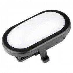 Plafón LED de Superficie Ovalado Negro Luxtar 10W IP54 6500 K FRIO