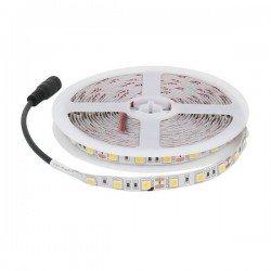 CORTE DE 1 METRO Tira de LED 12v DC SMD5050 300 LEDs IP20 Azul ROLLO DE 5 METROS