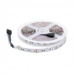CORTE DE 1 METRO Tira de LED 12v DC SMD5050 300 LEDs RGB IP20 ROLLO DE 5 METROS
