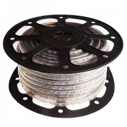 CORTE DE 1 METRO Tira de LED 220VAC 60LED/m 14W/m 50 metros 3000K CALIDO SMD5050 ROZOK ROLLO DE 50 METROS
