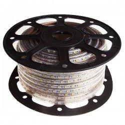 CORTE DE 1 METRO Tira de LED 220VAC 60LED/m 14W/m 50 metros 6000 K FRIO SMD5050 ROZOK ROLLO DE 50 METROS