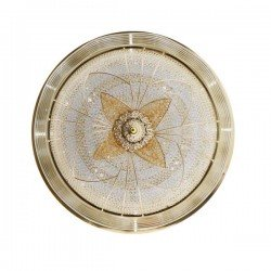 PLAFON LED DECORATIVO 72W REDONDO FLOWER GOLD