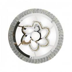 PLAFON LED DECORATIVO 120W REDONDO CIRCLE FLOWER SILVER
