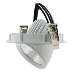 DOWNLIGHT PROYECTOR LED BLANCO DIRECCIONABLE TRACK 15W 3000K CALIDO