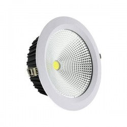 DOWNLIGHT LED EMPOTRABLE BLANCO LED COB ALTA LUMINOSIDAD 30W 3000K CALIDO