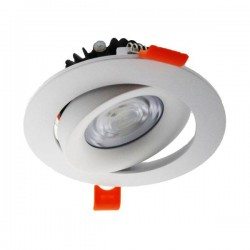 DOWNLIGHT LED EMPOTRABLE BLANCO BASCULANTE COBMON 15W 3000K CALIDO