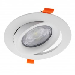 DOWNLIGHT LED EMPOTRABLE BLANCO BASCULANTE COBMON 20W 3000K CALIDO