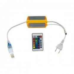 CONTROLADOR CON MANDO PARA NEON LED RGB 220V