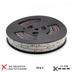 CORTE DE 1 METRO TIRA LED DE 4500K NEUTRO 17W/M 120LED/M 220VAC SMD2835 RUZOK ROLLO DE 20 METROS