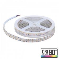CORTE DE 1 METRO TIRA LED 19W 3000K CALIDO 24V DC 560 LED/M IP 20 SMD2110 12X5000MM THICK ROLLO DE 5 METROS