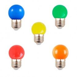 BOMBILLA LED AMARILLA G45 E27 0,5W