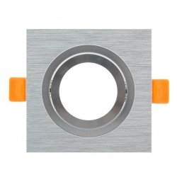 Aro basculante cuadrado níquel para GU10/MR16 Serie Luxury