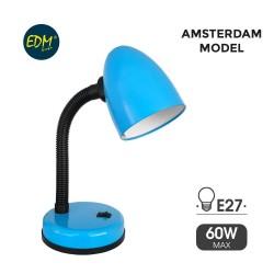FLEXO LAMPARA AZUL DE MESA 60W E27 MODELO AMSTERDAM