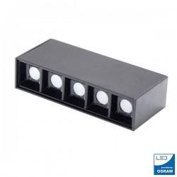 APLIQUE LINEAL LED DE ALUMINIO 5W UGR 17 4500K NEUTRO MODELO VIENA SMD3030