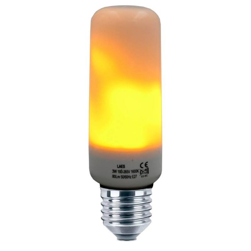 BOMBILLA LED T40 EFECTO FLAMA E27 3W 1600K 85-265V