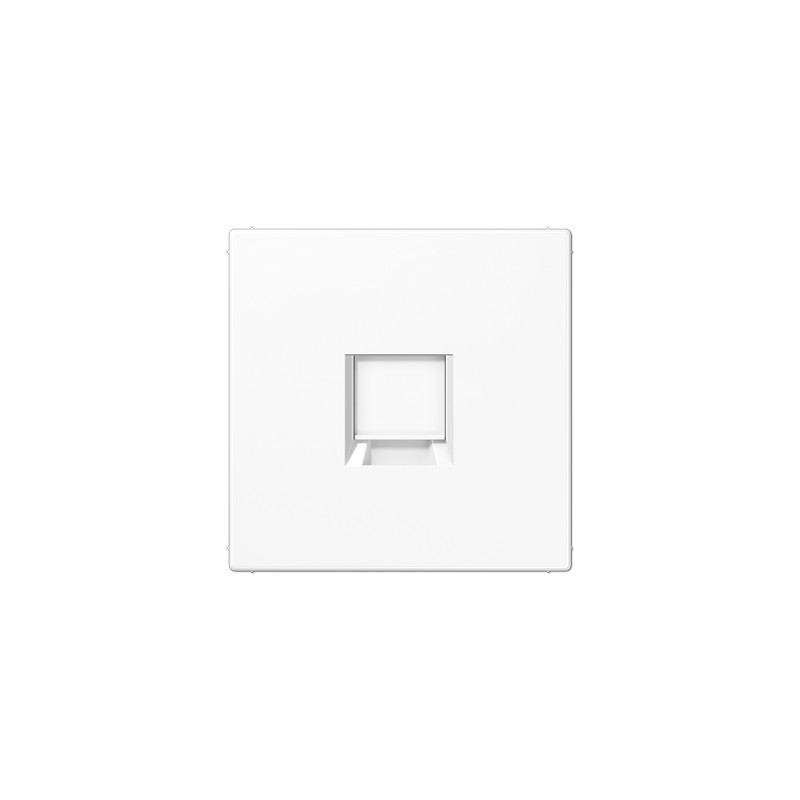PLACA MODULAR JACK-RADIALL 1 TOMA -JUNG SERIE LS 990 BLANCO ALPINO