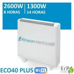 INCREIBLE OFERTA ACUMULADOR DE CALOR 2600-1300W 8-14 HORAS DE CARGA ECO40 PLUS WIFI