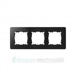 MARCO 3 MODULOS GRAFITO base aluminio simon serie Detail 82