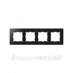 MARCO 4 MODULOS GRAFITO base aluminio simon serie Detail 82