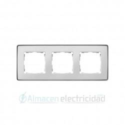 MARCO 3 MODULOS BLANCO base aluminio simon gama Detail 82