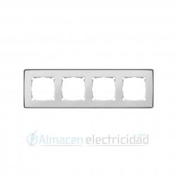 MARCO 4 MODULOS BLANCO base aluminio simon serie Detail 82