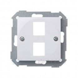 ADAPTADOR Para DOS Conectores Rj45 Blanco Simon 28 28089-30