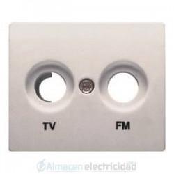 TAPA TOMA TV-FM ALUMINIO MERCURIO