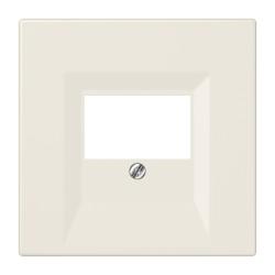 PLACA PARA MODULO DE COMUNICACIÓN KNX/USB,TOMAS ALTAVOZ ESTEREO Y MONO BLANCO MARFIL JUNG SERIE LS 990