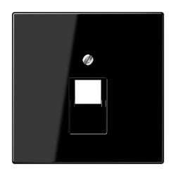 PLACA CENTRAL PARA TOMAS TELEFONICAS UAE NEGRO JUNG SERIE LS 990 (1 TOMA)