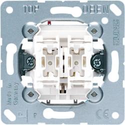 PULSADOR DOBLE ANCHO 10AX/250V JUNG 535U