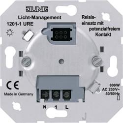 Mecanismo rele con contacto libre de potencial JUNG 1201-1 URE