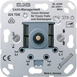 Dimmer Tronic giratorio con conmutador JUNG 225 TDE