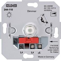 Dimmer giratorio 110 V con conmutador JUNG 244-110