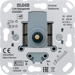 Regulador Dimmer giratorio universal para luces halogenas-incandescentes JUNG 254 UDIE1
