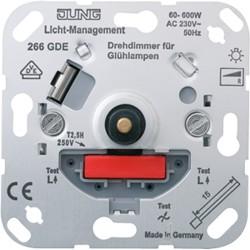 Dimmer giratorio de 60 a 600W para luces JUNG 266 GDE