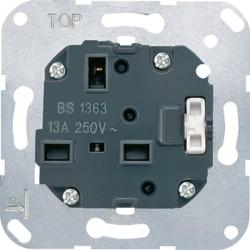 Base de enchufe sistema britanico con interruptor JUNG 3171 EINS