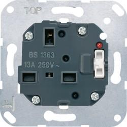 Base de enchufe britanico con interruptor y lampara de control JUNG 3171 KO EINS