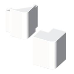 Ángulo exterior blanco para canal electrico Unex 60X60 en pvc para aire acondicionado