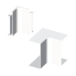 Ángulo interior blanco para canal electrico Unex 60X60 en pvc para aire acondicionado
