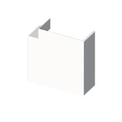 Ángulo plano blanco para canal aislante Unex 60X60 en pvc para aire acondicionado