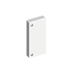 Tapa final blanco para canal portacable Unex 60X60 en pvc para aire acondicionado