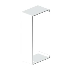 Cubrejuntas blanco para canal aislante Unex 30x40 en pvc