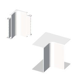 Ángulo interior blanco para canal electrico Unex 30x60 en pvc