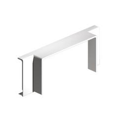 Derivación T blanco para canal porta cables Unex 40x40 en pvc