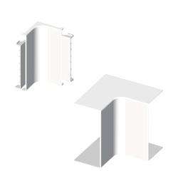 Ángulo interior blanco para canal electrico Unex 40x40 en pvc