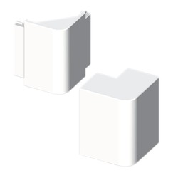 Ángulo exterior blanco para canal electrico Unex 40x90 en pvc