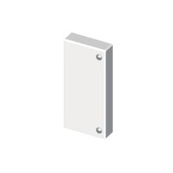 Tapa final blanco para canal portacable Unex 40x110 en pvc