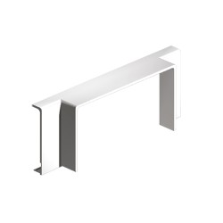 Derivación T blanco para canal porta cables Unex 40x110 en pvc