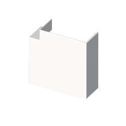 Ángulo plano blanco para canal aislante Unex 60x90 en pvc