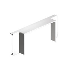 Derivación T blanco para canal porta cables Unex 40x90 libre de halogenos
